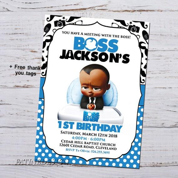 African Boss Baby Birthday Invitation