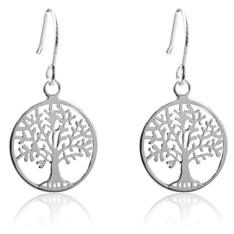 Silver 925 Silver Earrings 925 Life Tree Earrings 15 mm