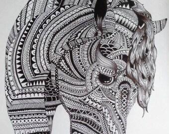 Aztec Horse Print