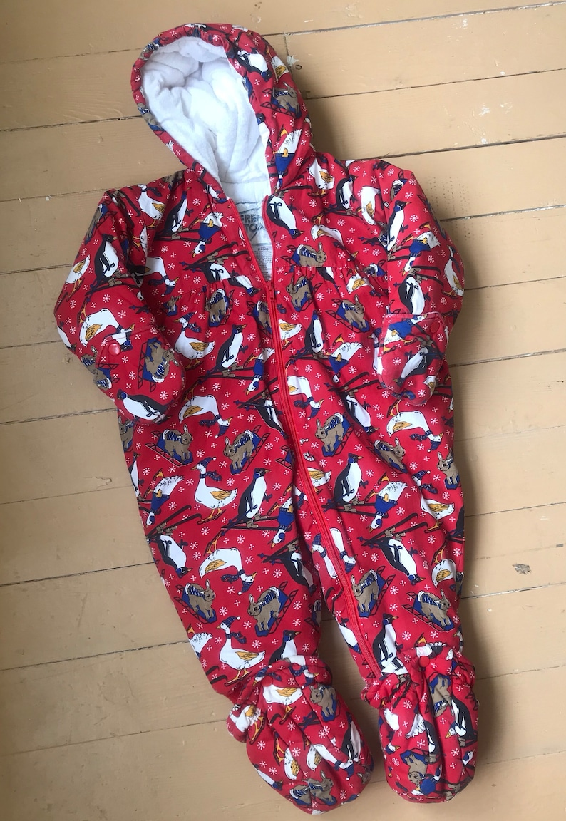 2993fd36b Vintage French Toast Child's 24 Mo Red Snowsuit Animal | Etsy