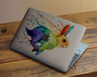 Easter Watercolor Rabbit Nature Hard Case Cover For Macbook Air 11 13 Pro 13 15