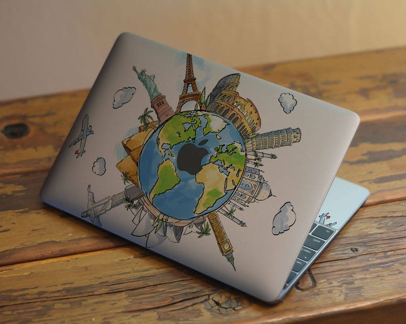 ccc6a44992ba3 Travel Map World Macbook Pro 15 City Painting Mac 2016 Decal Retina 13  Clear 12 Inch Laptop Air 11 Skin 2017 Cover Vinyl 2015 A1502 Sticker