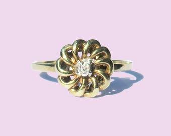 Callie 333 Gold/8ct with Diamond
