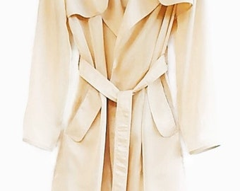 1bac5217ca0 Chiffon - Organza Classic Trench coat. Elegant Women's Clothes. Gorgeous  Clothing! Transparent Coat. Gift for her! Free shipping.