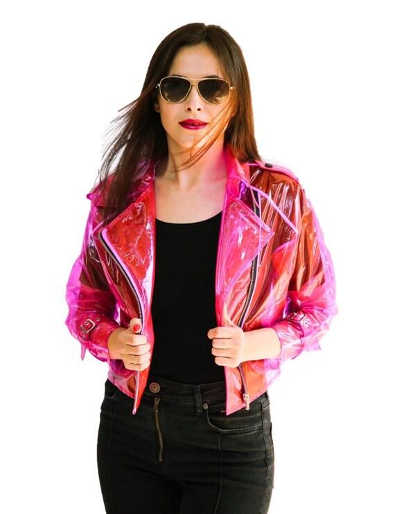 Farbige Transparente JackeKlare Damen Vinyl Für Biker Geschenk Sie ZTPkXiulwO