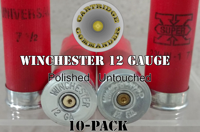 Winchester 12 gauge thin cut slice shotgun shell diy bullet jewelry 10-pk