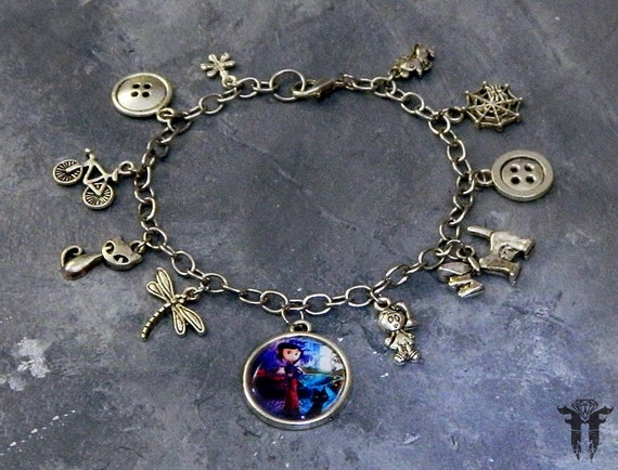 Coraline Movie Inspired Stainless Steel Charm Bracelet Etsy
