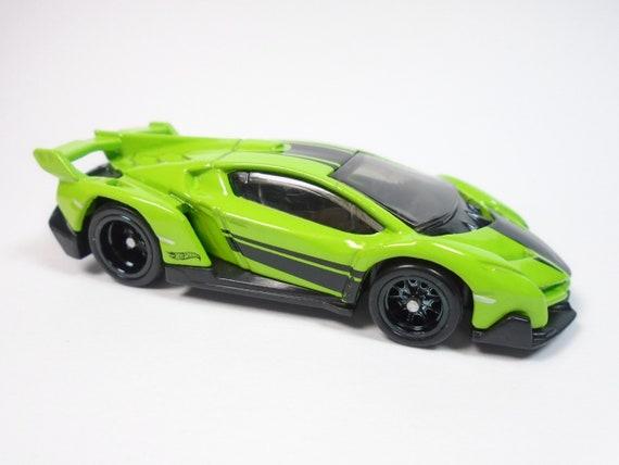 Hot Wheels Lamborghini Veneno Green Custom Real Riders W Real Etsy