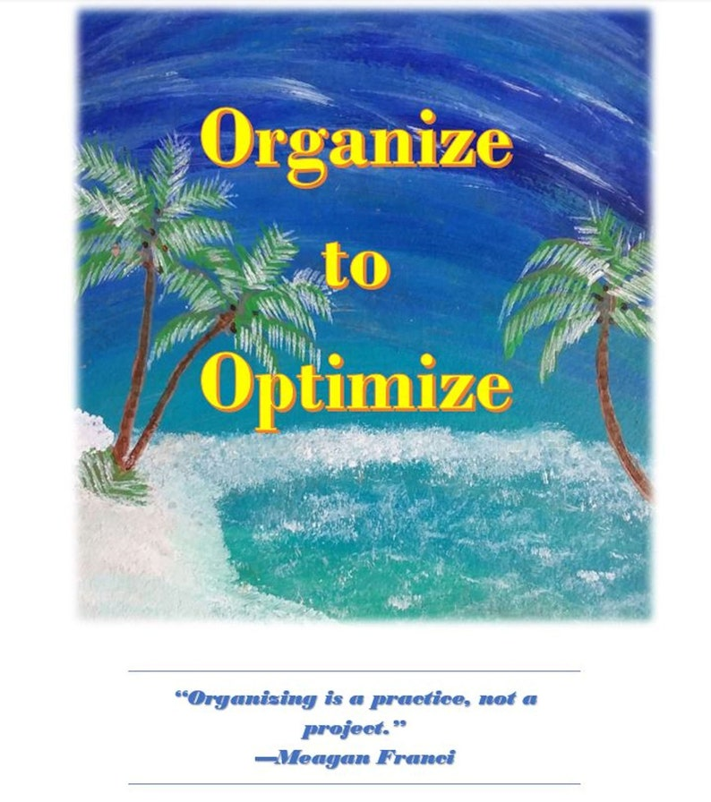 Organize to Optimize/ Everyday Vacay Cyber Seminar Series Part image 0
