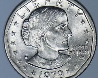 1979-P BU Wide Rim Near Date Susan B Anthony Dollar