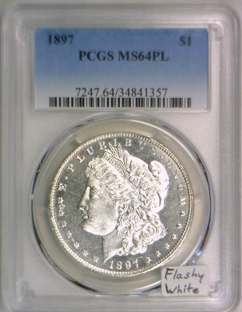 1897 Morgan Dollar PCGS MS-64 PL