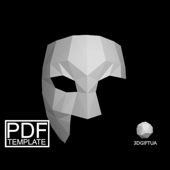 Phantom Of The Opera Mask DIY Halloween Paper