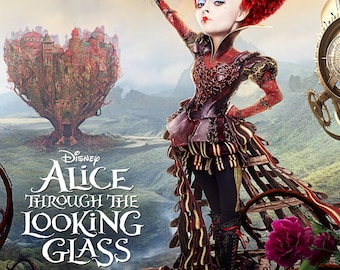 Alice Through the Looking Glass - A4 Film poster - The Queen of Hearts