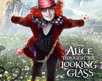 Alice Through the Looking Glass - A4 Film poster -The Hatter by Johnny Depp