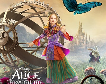 Alice Through the Looking Glass - A4 Film poster - Alice