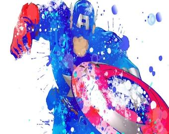 Captain America Birthday Card - Marvel Avengers character