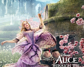 Alice Through the Looking Glass - A4 Film poster - The White Queen