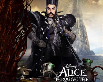 Alice Through the Looking Glass - A4 Film poster -Time played by Sacha Baron Cohen