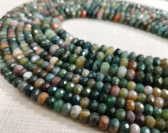 gray faceted gemstones 10mm White Lace Agate Rondelle Beads gem0644 full strand
