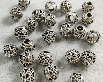 Tibetan Donut Spacer Beads 8mm Antique Gold 30 Pcs Art Hobby Jewellery Making