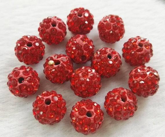 10 Crystal AB Rhinestone clay pave 10mm beads for Shamballa Bracelets