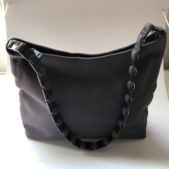 90d8c5325c3 Vintage Salvatore Ferragamo Women s Gray Nylon Handbag w    Etsy