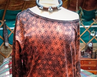 Sacred Geometry Flower of Life Crop Top Bralette Pixie Goddess Psy trance Forest Fae Crusty Punk Hippy Yoga post-apocalyptic burning man