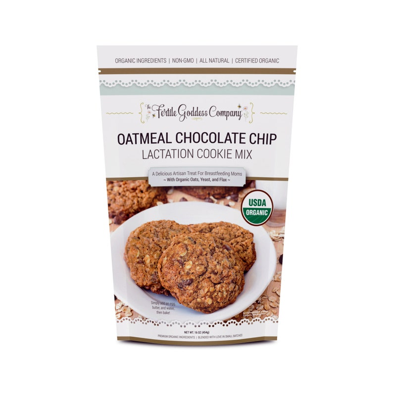 Lactation Cookie Mix  Oatmeal Chocolate Chip with Brewers image 0