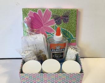 Slime kit with Unicorn Slime/ Boy or Girl/ kids craft/ making floam/glitter slime/crunchy slime
