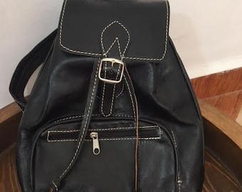 Moroccan Leather & brown  Backpack Shoulder Bag /handmade leather