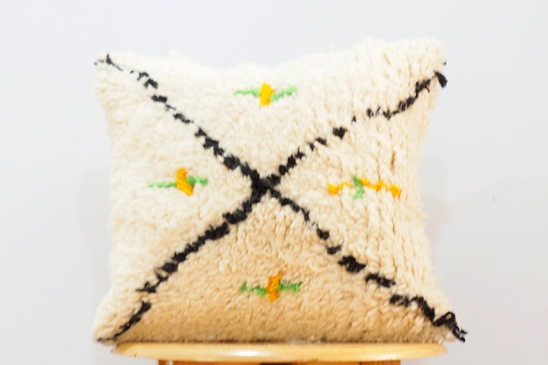 Vintage beni ourain cushionsbeni ourian pillowunstuffed pillow