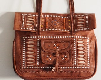 Genuine Moroccan Leather bag &