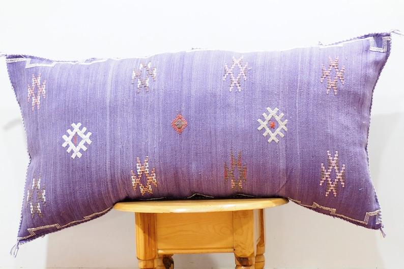 LUMBAR Sabra silk large Moroccan sabra CACTUS Silk pillow Sabra Ethnic pillow Boho CUSHION Moroccan Style pillow unstuffed