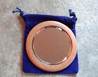 Wood Purse Mirror