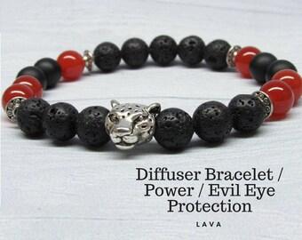 Black lava bracelet Physical chakra Stretch beaded bracelet Diffuser jewelry Aromatherapy power Yoga mens Root chakra balancing bracelet