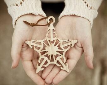 Celtic Star - Christmas Wood Laser Cut Ornament