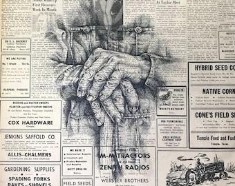A Farmer's Hands Art Print