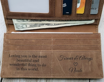 Roper Wallet Hunter Dark Brown Leather RFID Protected Leather Rodeo Wallet