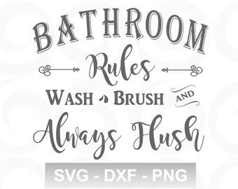Bathroom Svg Etsy