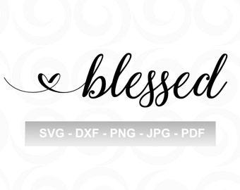 Blessed SVG - Inspirational SVG - Spiritual SVG - Glass Block Svg - Cricut Designs - Craft Svg - Vinyl Designs - Htv Designs - Shirt Svg