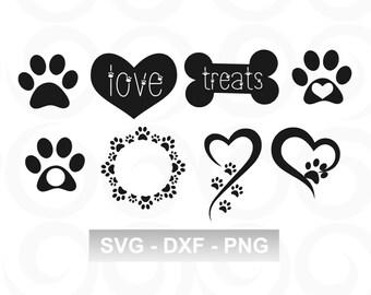 a164fbb12519 Dog SVG - Paw SVG - Pet SVG - Paw Print Svg - Heart Svg - Monogram Circle  Svg - Decal Svg - Vinyl Designs - Dog Monogram Svg - Cricut Svg