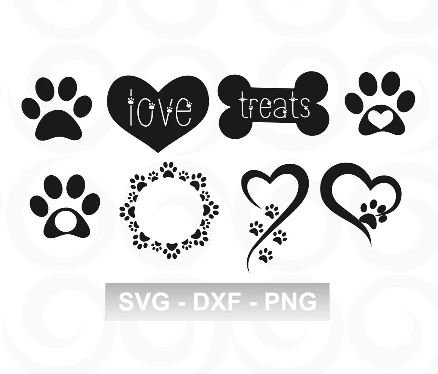 Download Dog SVG Paw SVG Pet SVG Paw Print Svg Heart Svg | Etsy