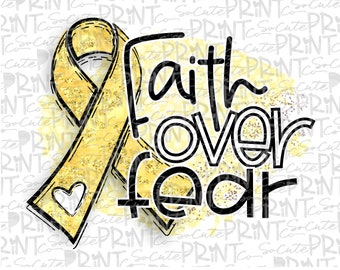 Yellow ribbon clipart Hope for a cure png file for sublimation Awareness Gold ribbon cancer awareness Childhood Cancer