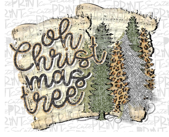 Christmas Chain Clipart.Christmas Oh Christmas Tree Clipart Christmas Png File For Sublimation Printing Leopard Christmas Tree Clipart Christmas Shirt Design