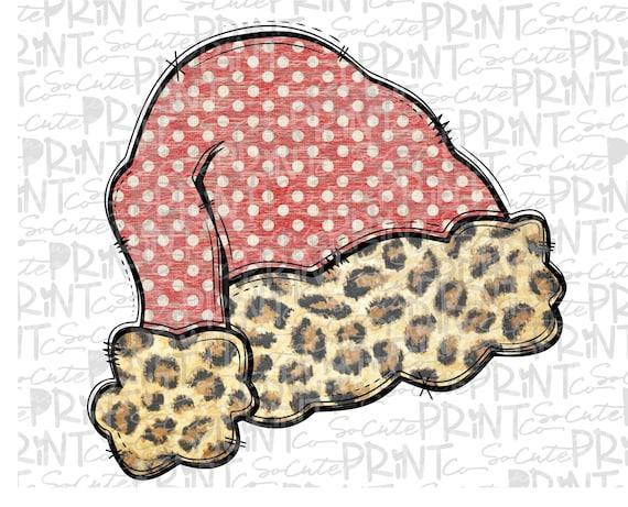 Santa/'s favorite clipart Christmas leopard Santa clipart Christmas png file for sublimation printing Christmas shirt design