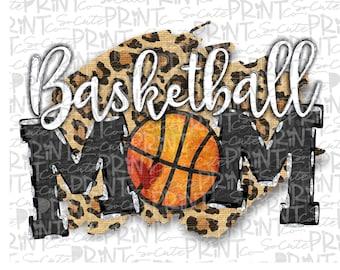 Basketball Mom, basketball clipart, transparent PNG file for sublimation, basketball mama PNG, printable, basketball design