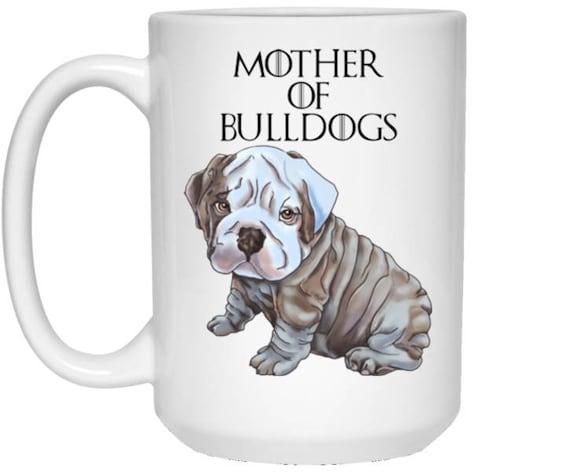 English Bulldog  gifts Bulldog mug Printed Dog Mug gift idea
