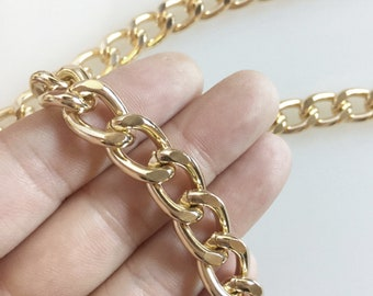5 Feet Anodized Aluminum Silver Cable Bulk Chain with 15x10mm Links