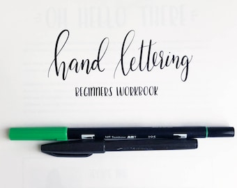 Beginners Hand Lettering Workbook