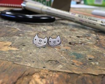 Happy kitty earrings